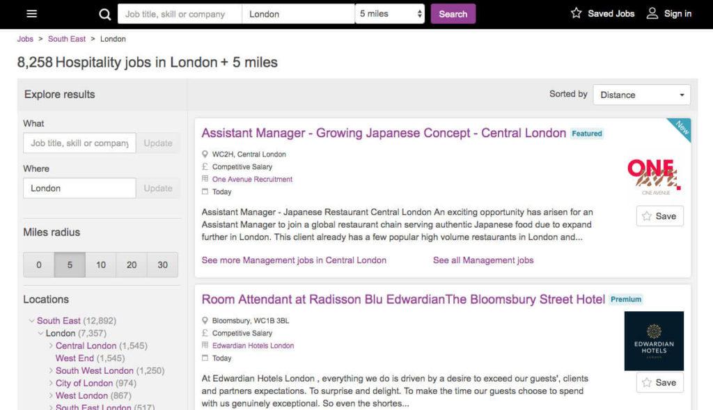 Offres d'emploi Traiteur & Hôtellerie à Londres chez Caterer