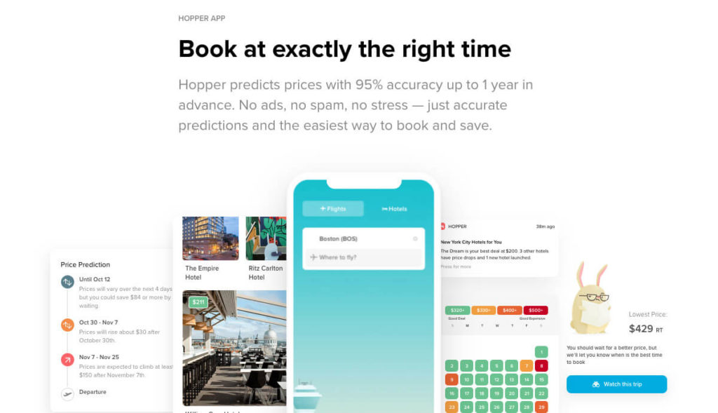 must have travel app Hopper