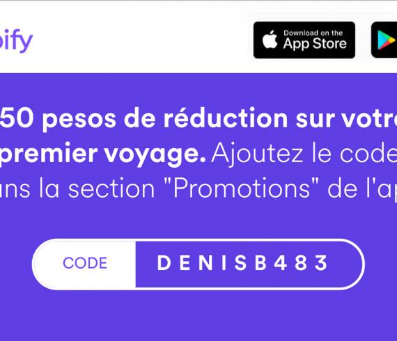 Code promo Cabify DENISB483 pour une remise sur les taxis - Montevideo, Uruguay