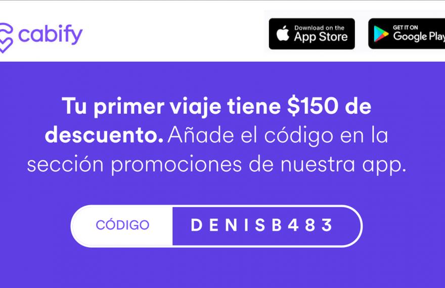 Código Cabify cupones DENISB483 para descuento en los taxis - Montevideo, Uruguay